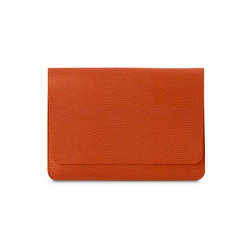 Tasche mit Klappe iPad 10.5 - Orange - Genarbtes Leder