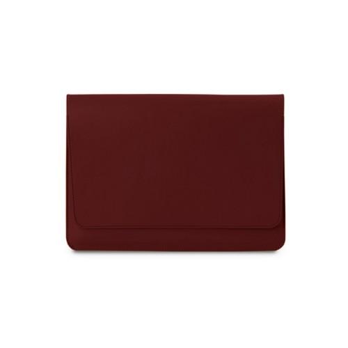 Tasche mit Klappe iPad 10.5 - Weinrot - Glattleder