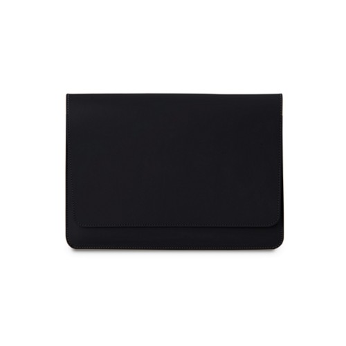 Tasche mit Klappe iPad 10.5 - Schwarz - Glattleder