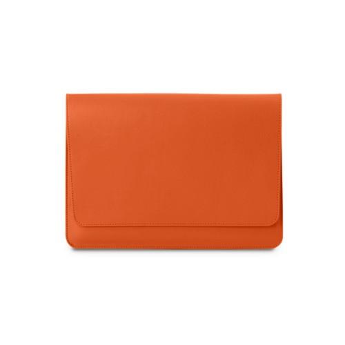 Tasche mit Klappe iPad 10.5 - Orange - Glattleder