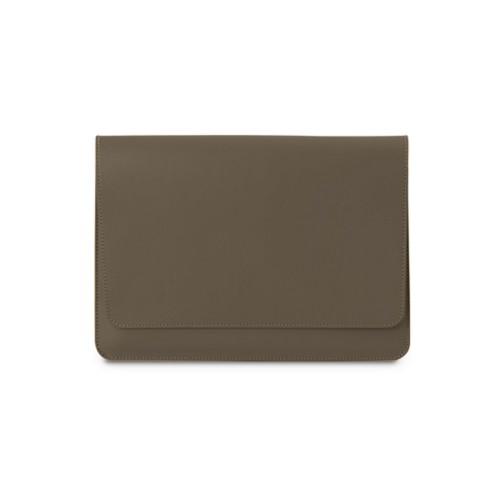 Tasche mit Klappe iPad 10.5 - Dunkeltaupe - Glattleder