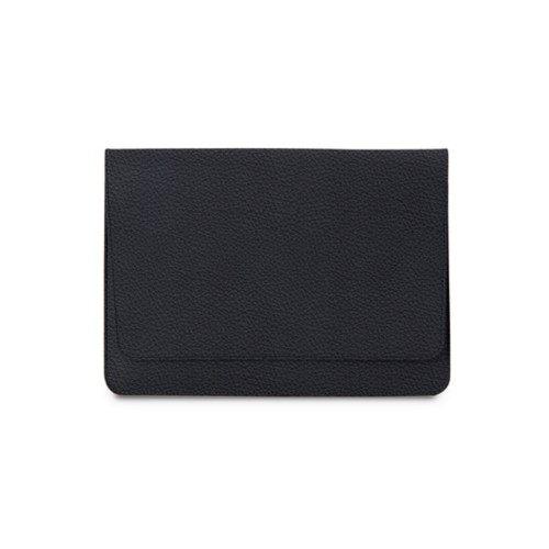 """Envelope Pouch iPad Pro 11"""" 2018 - Navy Blue - Granulated Leather"""