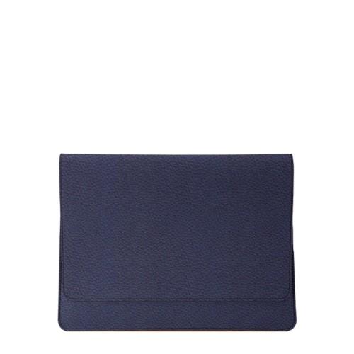 Umschlaghülle für das iPad Pro 11 Zoll 2018 - Marineblau  - Genarbtes Leder