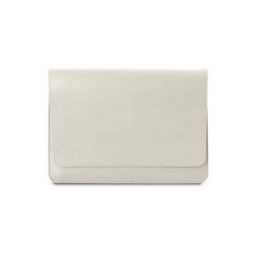 "Envelope Pouch iPad Pro 11"" 2018 - Off-White - Granulated Leather"