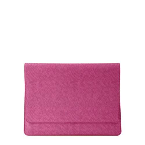 Umschlaghülle für das iPad Pro 11 Zoll 2018 - Fuchsia  - Genarbtes Leder