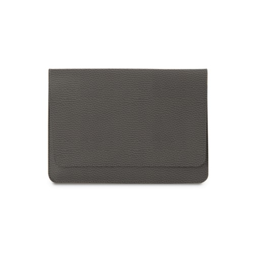 "エンべロップポーチ iPad Pro 11"" 2018 - Mouse-Grey - Granulated Leather"