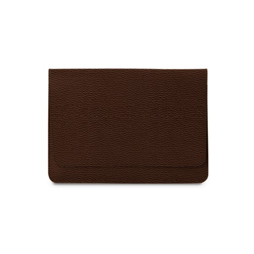 "Envelope Pouch iPad Pro 11"" 2018 - Dark Brown - Granulated Leather"