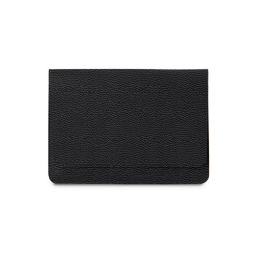 "Envelope Pouch iPad Pro 11"" 2018 - Black - Granulated Leather"