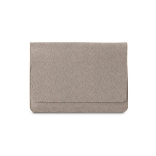 """Envelope Pouch iPad Pro 11"""" 2018 - Light Taupe - Granulated Leather"""