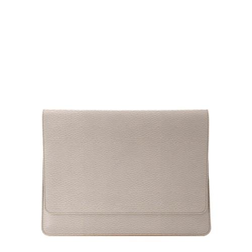 """エンべロップポーチ iPad Pro 11"""" 2018 - Light Taupe - Granulated Leather"""