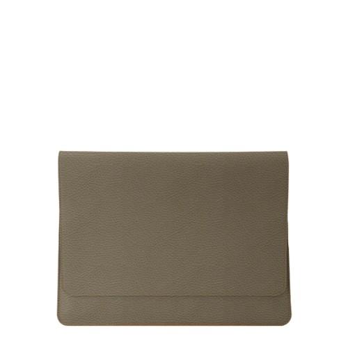 Umschlaghülle für das iPad Pro 11 Zoll - Dunkeltaupe - Genarbtes Leder