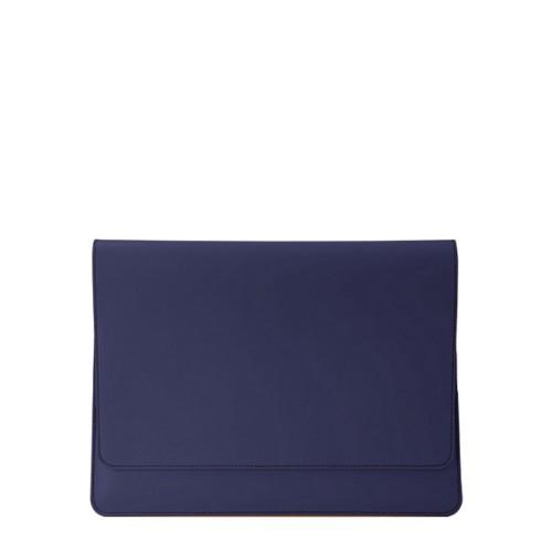 Umschlaghülle für das iPad Pro 11 Zoll 2018 - Marineblau  - Glattleder
