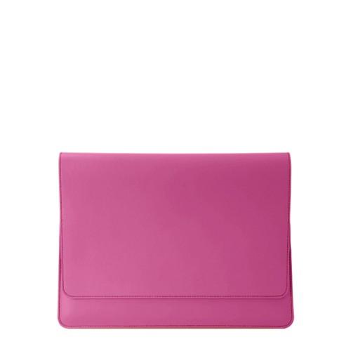 Umschlaghülle für das iPad Pro 11 Zoll 2018 - Fuchsia  - Glattleder