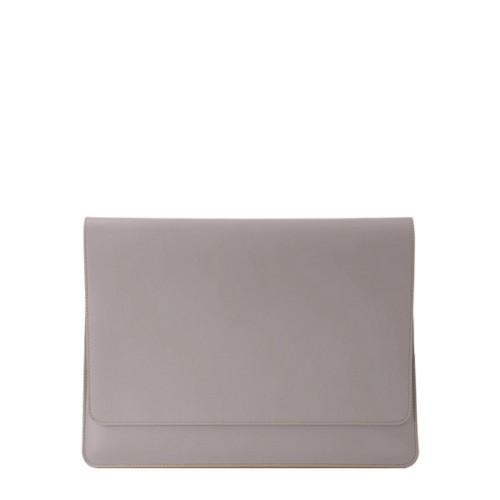 """エンべロップポーチ iPad Pro 11"""" 2018 - Light Taupe - Smooth Leather"""