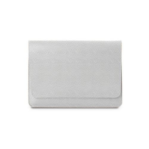 Serviette à rabat iPad Air - Blanc - Cuir Grainé