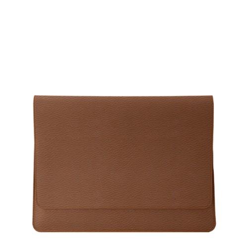 iPad Air Pouch Folder - Tan - Granulated Leather