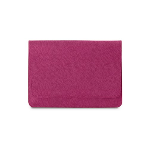 iPad Air Pouch Folder - Fuchsia  - Granulated Leather