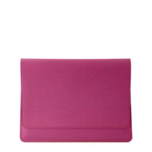 Funda con solapa para iPad Air - Fuchsia  - Piel Grano