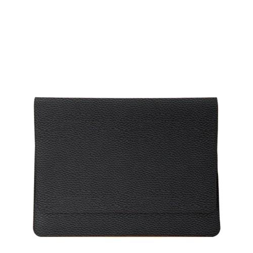 Serviette à rabat iPad Air - Noir - Cuir Grainé
