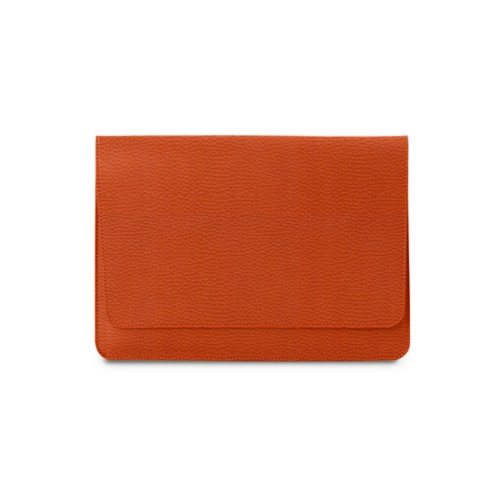 Serviette à rabat iPad Air - Orange - Cuir Grainé