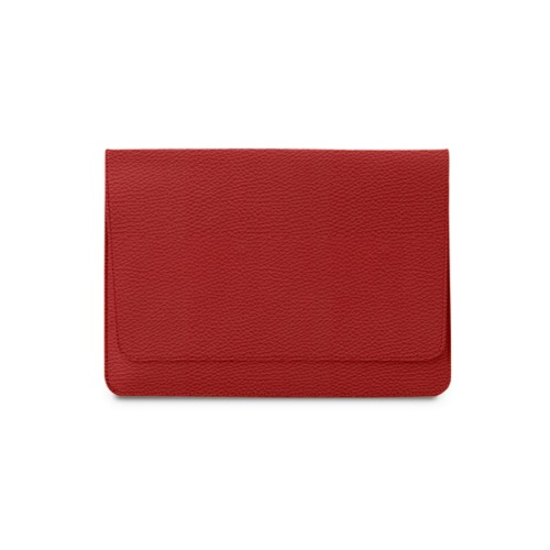Serviette à rabat iPad Air - Rouge - Cuir Grainé