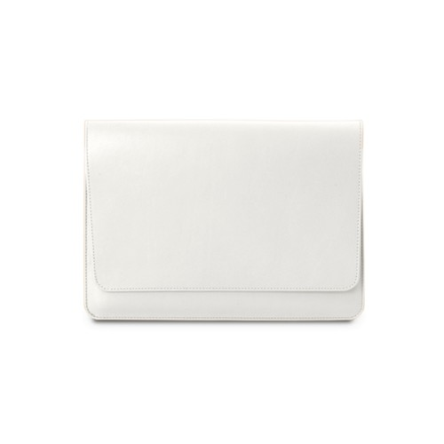 iPad Air Pouch Folder - White - Smooth Leather