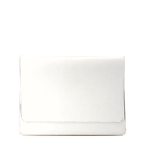 Serviette à rabat iPad Air - Blanc - Cuir Lisse