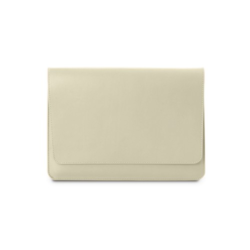 Funda con solapa para iPad Air - Blanco Crudo - Piel Liso