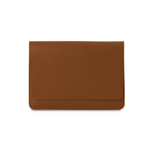 iPad Air Pouch Folder - Tan - Smooth Leather