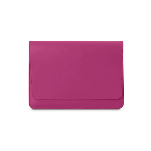 iPad Air Pouch Folder - Fuchsia  - Smooth Leather