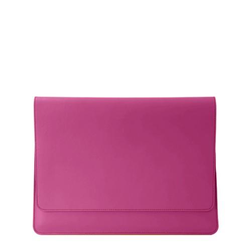 Funda con solapa para iPad Air - Fuchsia  - Piel Liso
