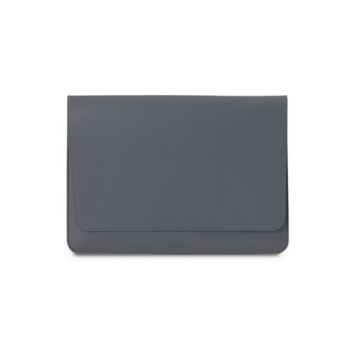 iPad Air Pouch Folder - Mouse-Grey - Smooth Leather