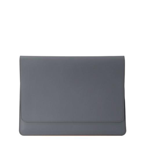 Serviette à rabat iPad Air - Gris Souris - Cuir Lisse