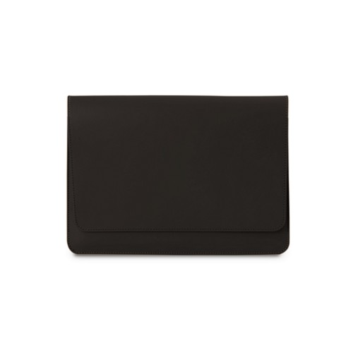 iPad Air Pouch Folder - Dark Brown - Smooth Leather