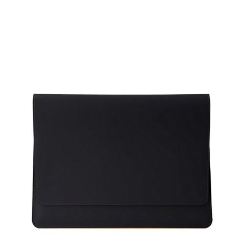 Serviette à rabat iPad Air - Noir - Cuir Lisse