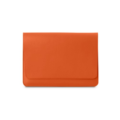 iPad Air Pouch Folder - Orange - Smooth Leather