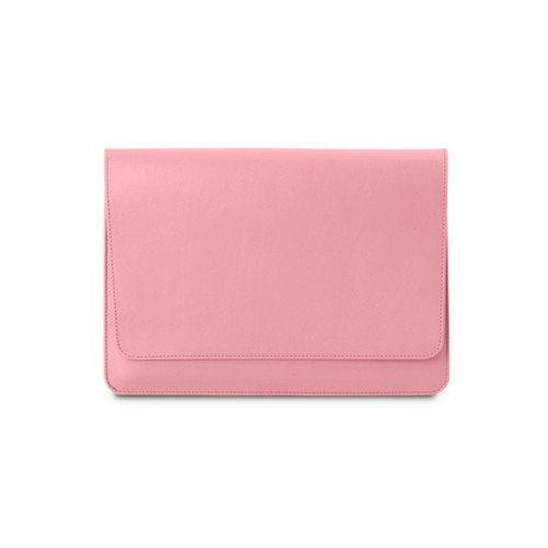 iPad Air Pouch Folder - Pink - Smooth Leather