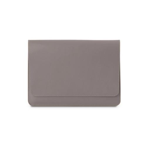 iPad Air Pouch Folder - Light Taupe - Smooth Leather