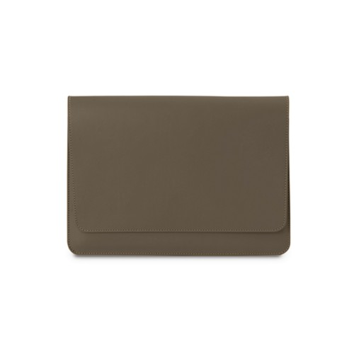iPad Air Pouch Folder - Dark Taupe - Smooth Leather