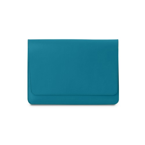 iPad Air Pouch Folder suojatasku - Turkoosi - Sileä nahka