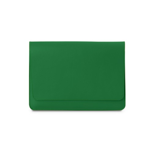 iPad Air Pouch Folder - Light Green - Smooth Leather