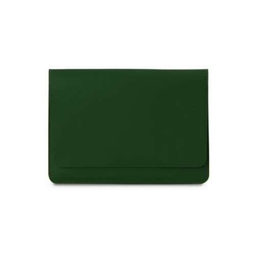 iPad Air Pouch Folder - Dark Green - Smooth Leather