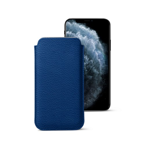 Classic Case for iPhone X - Royal Blue - Granulated Leather
