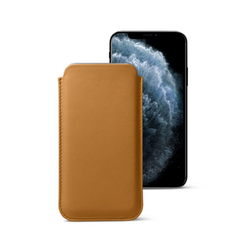 Classic Case for iPhone X - Natural - Smooth Leather