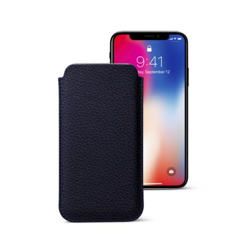 Classic Case for iPhone X - Purple - Granulated Leather
