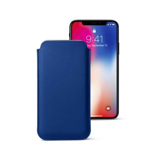 Classic Case for iPhone X - Royal Blue - Smooth Leather