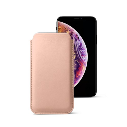 Classic Case for iPhone XS - Nude - Smooth Leather