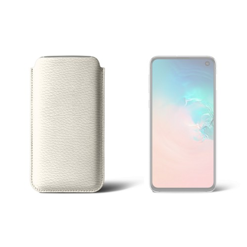 Classic Case for Samsung Galaxy S10e - Off-White - Granulated Leather