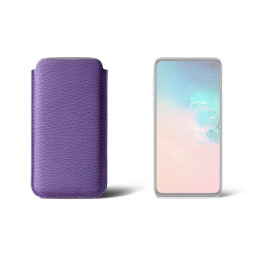 Klassieke Hoes voor Samsung Galaxy S10e - Lavendel - Korrelig Leer