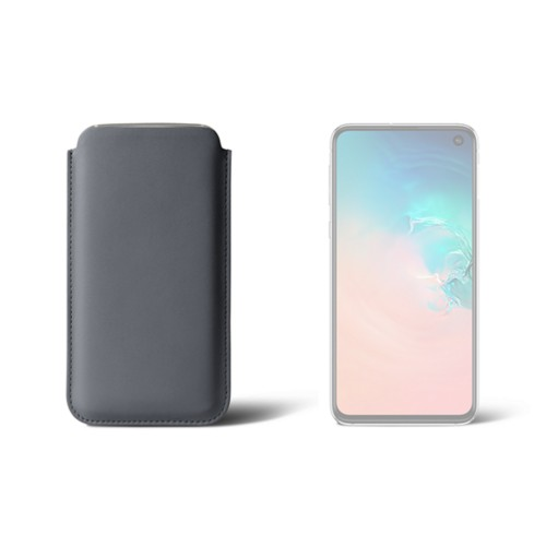 Classic Case for Samsung Galaxy S10e - Mouse-Grey - Smooth Leather